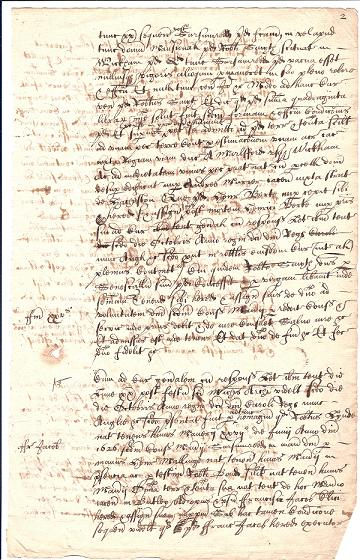A page from a Kettleburgh Court Book relating to Francis Jacob (Jacob MSS).
