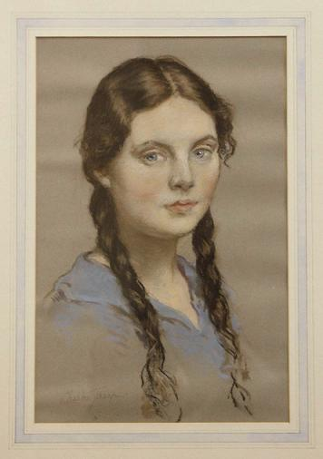 Elizabeth Jacob, a pastel by Gilbert Tharp