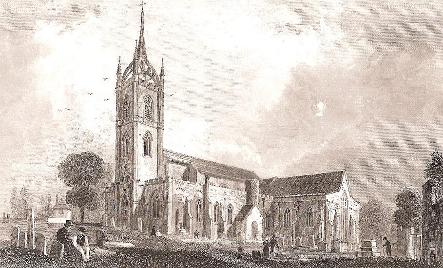 The church of St Mary Charity, Faversham, from a print dated 1830.