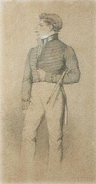 Herbert as a young officer, probably with the rank of Ensign or Lieutenant.
