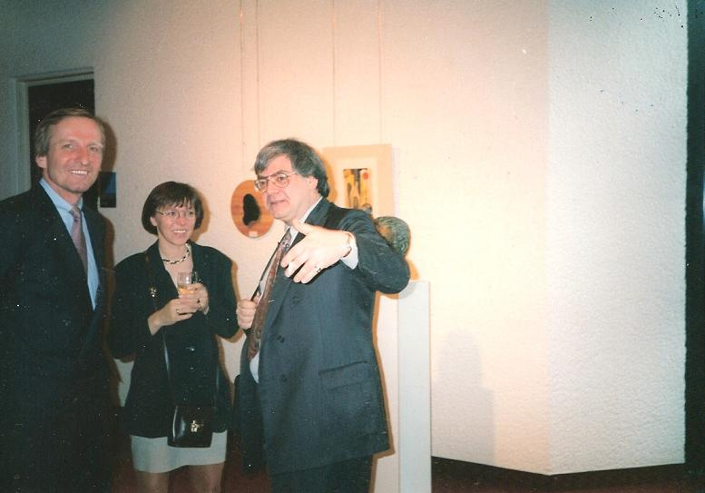 With Ucki John von Freyend and his wife Gabi at an exhibition of Harriet Noll