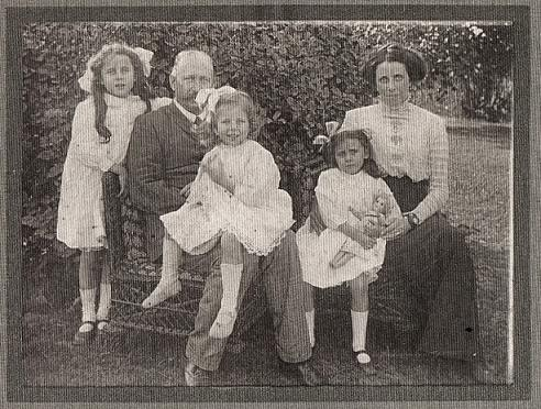 Henry and Petronella with their girls Rosalind, Monica and Lois.